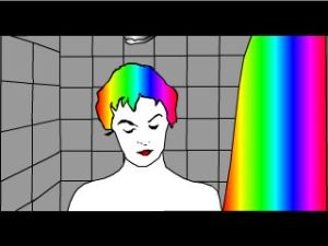 Psycho Shower Scene (frame 24 multi-coloured hair)