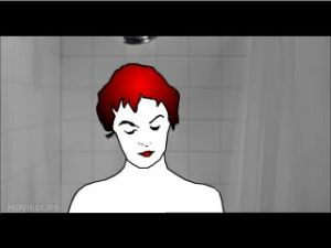 Psycho Shower Scene (frame 24 red hair)