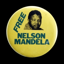 Free Nelson Mandela Badge (1984)