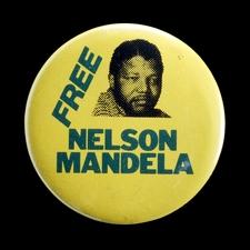 Free Nelson Mandela Badge (1984)