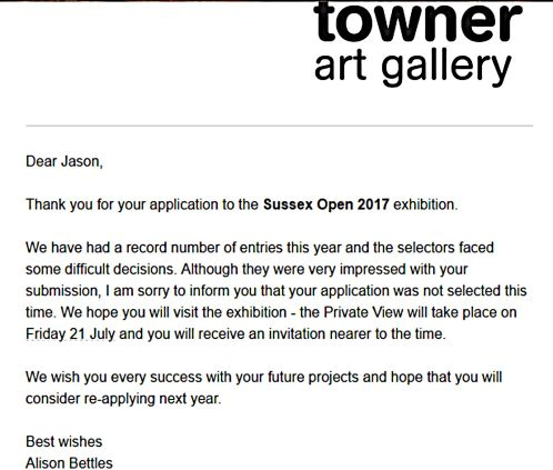 The Towner Rejection Letter (2017)
